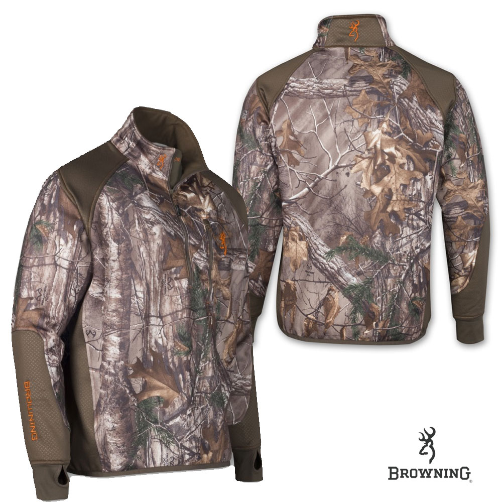 Browning Hell's Canyon Perf. Fleece 1/4 Zip Jacket (M)- RTX
