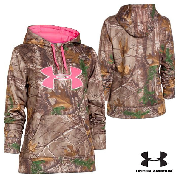 Under Armour WMNS Camo Big Logo Hoodie (S)- RTX/Pink