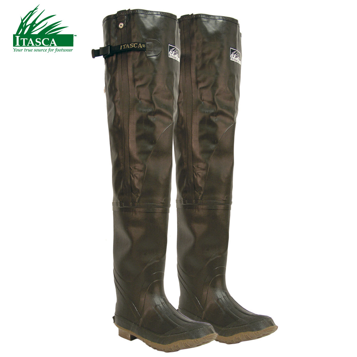 Itasca Rubber Men's Hip Waders (11)- Brown