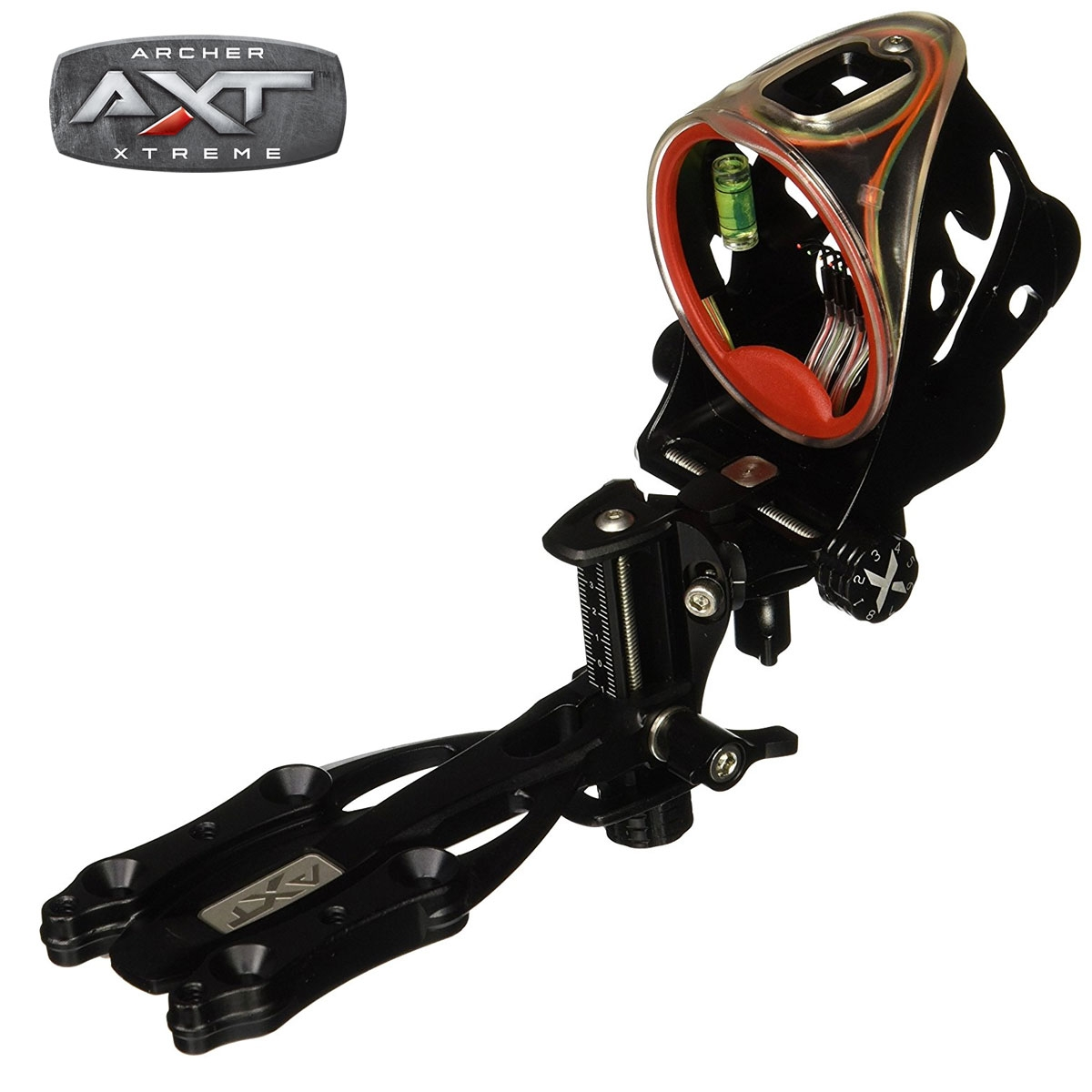 AXT Rogue 5-Pin Bow Sight w/Red Sight Ring