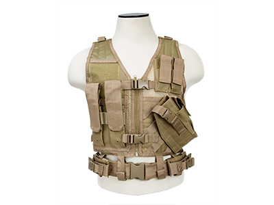 VISM Tactical Airsoft Kids Vest – TAN