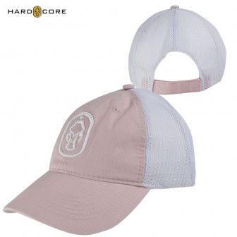 Hard Core Women's Dog Tag Trucker Cap - Pink