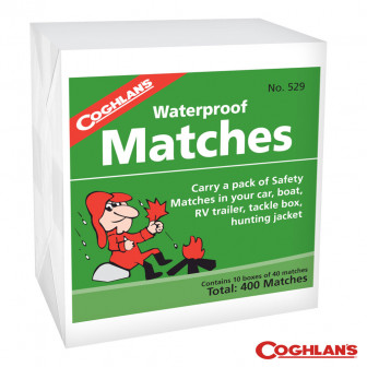 Coghlans Waterproof Matches (10 Boxes/40)