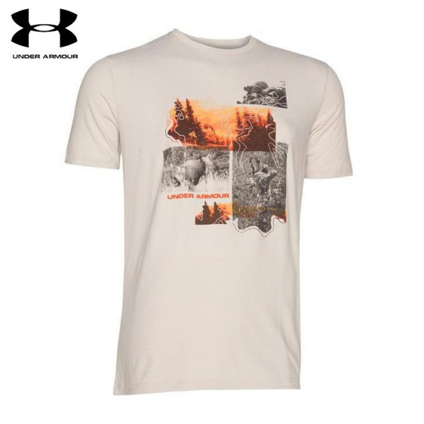 Under Armour Remi Photoreal T Shirt Ghost Gray Wing Supply