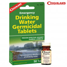 Coghlans Drinking Water Tablets - Bottle/50 Tablets